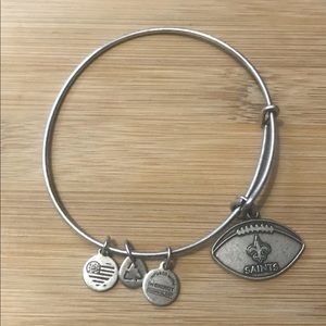 Alex &Ani New Orleans Saints Football Charm Bangle